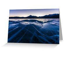 Ice Crater Greeting Card