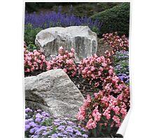Hillside Garden Poster
