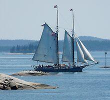 Schooner in the Deer Island Thorofare by LifeInMaine