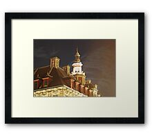 Vielle Bourse Roof Framed Print