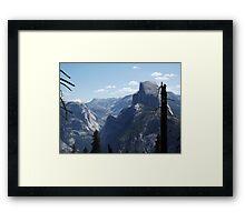 Half Dome in Profile Framed Print
