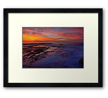 Old Soldiers Baths, Newcastle NSW Australia Framed Print