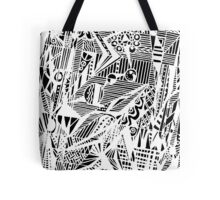 Circle 5 - Geometric - White Variation Tote Bag