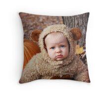Oatmeal Bear Throw Pillow