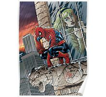 Still crushed. Spidey misses Gwen fan art by Al Rio - color Poster