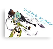 Sword Art Online- Sinon Canvas Print