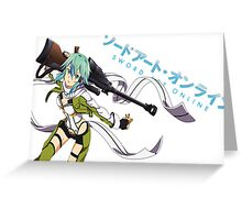 Sword Art Online- Sinon Greeting Card
