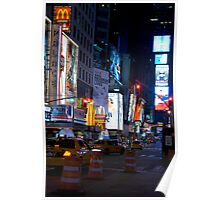 Late Night Times Square Poster