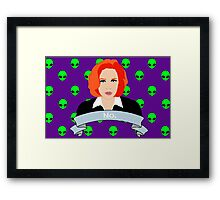 Scully Says  Framed Print