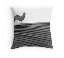 Curvy Cockerel Throw Pillow