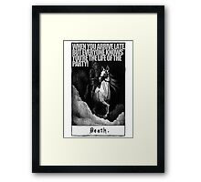Hold My Steed. Framed Print