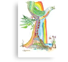 Tree of Life #19 - Peace Bird Canvas Print