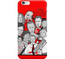 shaun of the dead character collage iPhone Case/Skin