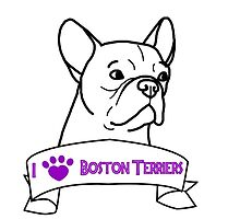 I Love Boston Terriers logo by ShelterStaffie