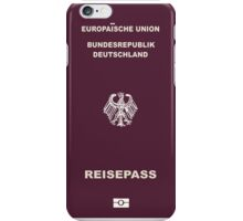 German Passport iPhone Case/Skin