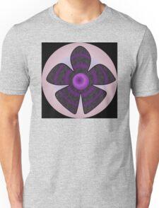 purple and black flower Unisex T-Shirt
