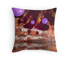 Fractal Pollution (But the spheres are nice.) Throw Pillow