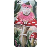 Gumnut Baby sitting on a bush mushroom iPhone Case/Skin