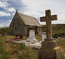 Church and graveyard. by Wayne Eddy Photography