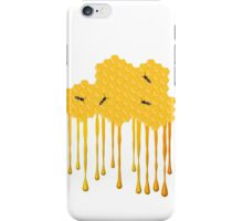 Honey bee hive with honey drip iPhone Case/Skin