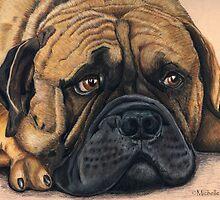 Waiting - Bullmastiff by thatdogshop