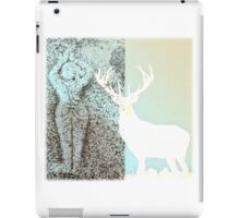 Gaia and the Stag - Blue iPad Case/Skin