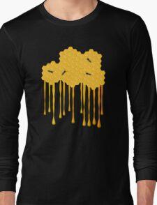 Honey bee hive with honey drip Long Sleeve T-Shirt