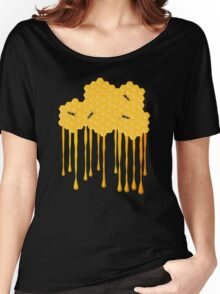 Honey bee hive with honey drip Women's Relaxed Fit T-Shirt