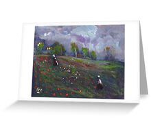 Poppies in a field Greeting Card