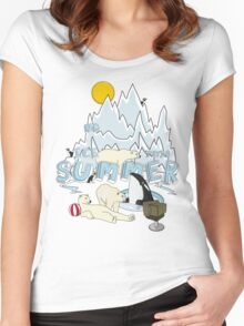 No ice this summer Women's Fitted Scoop T-Shirt