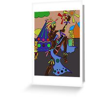 The Abstract Dancer Greeting Card