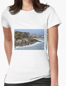 The Receding Wave's Destructive Might Womens Fitted T-Shirt