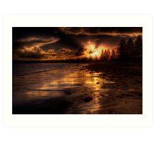 Esplanade sunset Art Print
