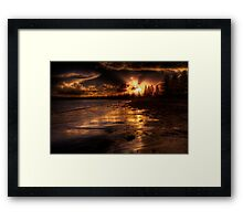 Esplanade sunset Framed Print