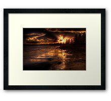 Esplanade sunset Framed Print