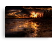 Esplanade sunset Canvas Print