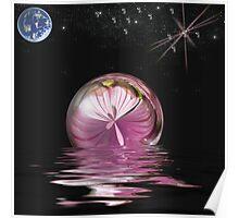 Floating sphere. Poster