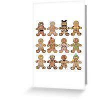 Gingerbread RWBY - All Teams Greeting Card