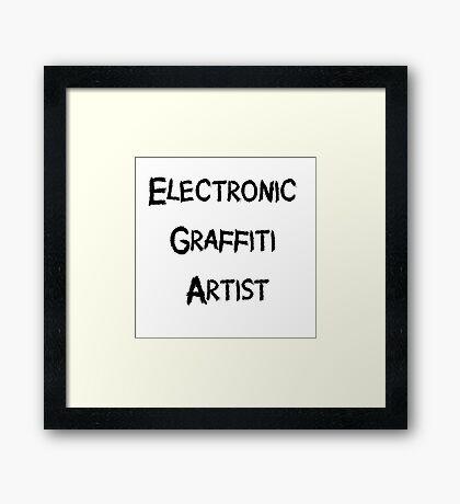 Electronic Graffiti Artist Black Framed Print