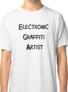 Electronic Graffiti Artist Black Classic T-Shirt