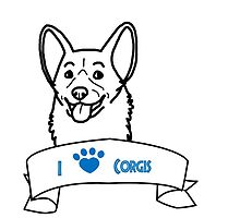 I Love Corgis logo by Savannah Terrell