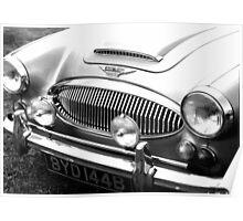 1964 Austin-Healey 3000 Sports Car Poster
