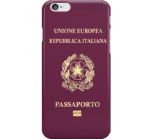 Italian Passport iPhone Case/Skin