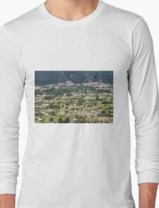 aeral view of the country Long Sleeve T-Shirt