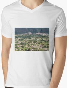 aeral view of the country Mens V-Neck T-Shirt