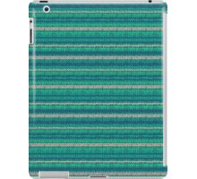 Knitted Pattern Set 2 - Blue/Green iPad Case/Skin