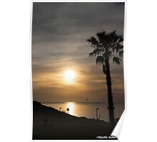 Sunset in the beach Poster