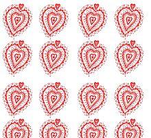 Valentine Heart 8 Red  by Heatherian