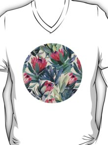 Painted Protea Pattern T-Shirt