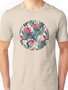 Painted Protea Pattern Unisex T-Shirt